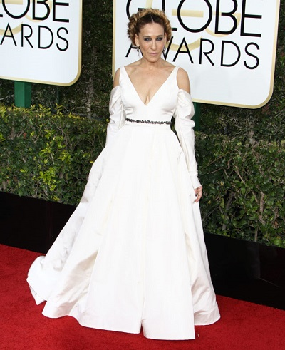 Sarah Jessica Parker at The 74th Annual Golden Globe Awards in LA