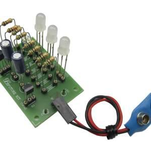 נורות מחליפות צבעים הכנסת רכיבי אלקטרוניקה בלוח מודפס