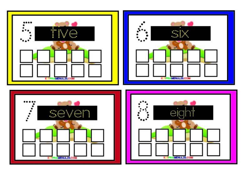 one-to-ten-01 BBM Pendidikan Khas Mengenal Number One To Ten