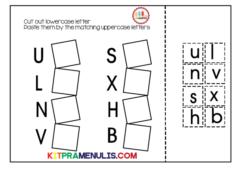 cut-paste-match-alphabet-lowercase-01 Cut Paste Lowercase Letter Match Worksheet
