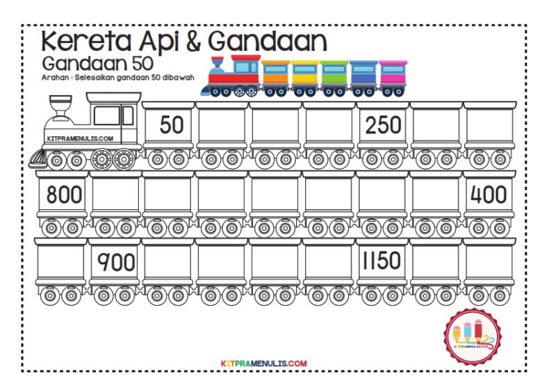 Gandaan-2-90-Tema-Keretapi_013 Lembaran Kerja Gandaan 50