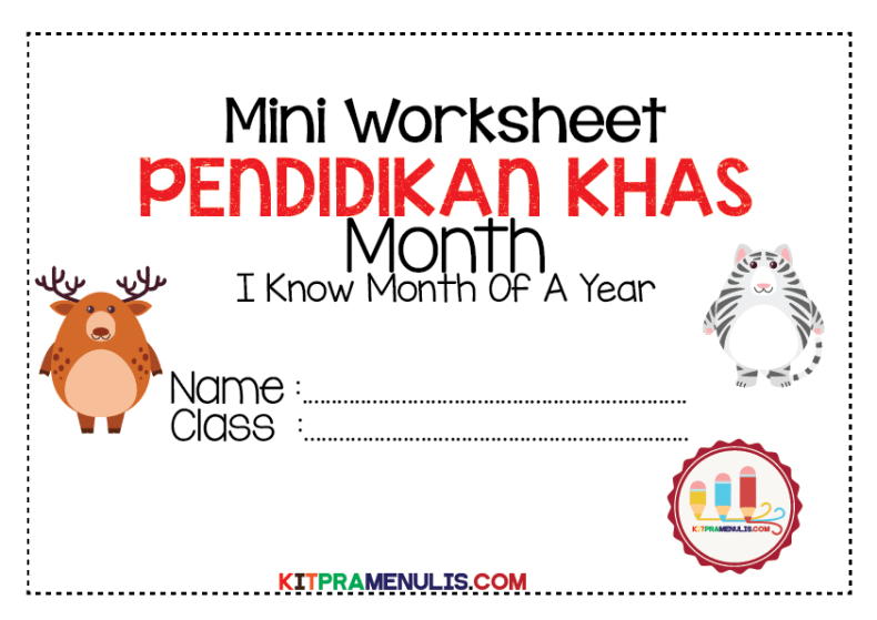 Month-Of-A-Year-Theme-Animal-01 Mini Worksheet Month Of A Year Special Education