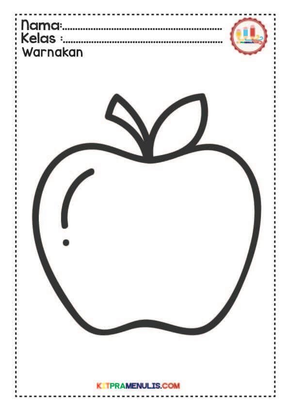 Mewarnai Buah Dan Sayur : mewarnai, sayur, Contoh, Gambar, Mewarnai, Sayur, KataUcap