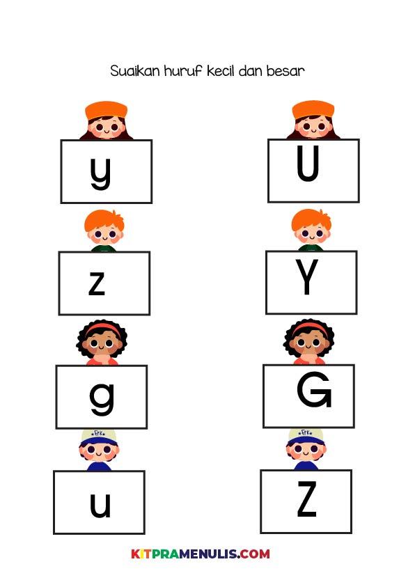 Mengenal-huruf-besar-dan-kecil-01 Mini Prasekolah   Latihan Mengenal Huruf Besar Dan Kecil