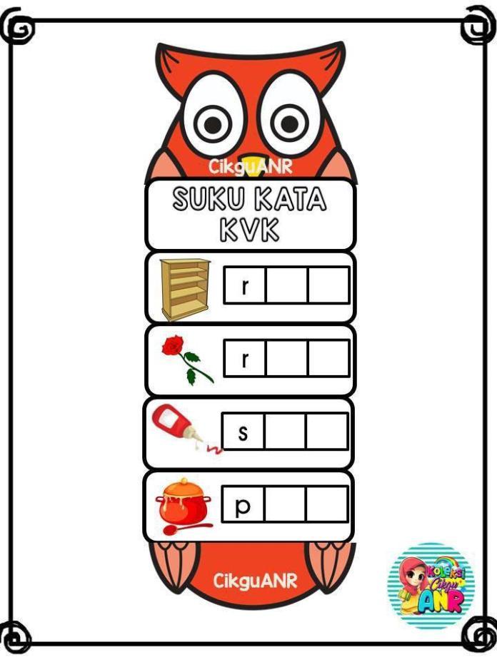 kad-lipat-suku-kata-kvk Kad Suku Kata KVK Untuk Prasekolah Dan Pendidikan Khas