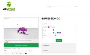 Sercice d'impression 3D en ligne