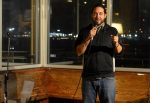 Joseph Rogers hosts a comedy show at Slaughter County Brewing in Port Orchard.