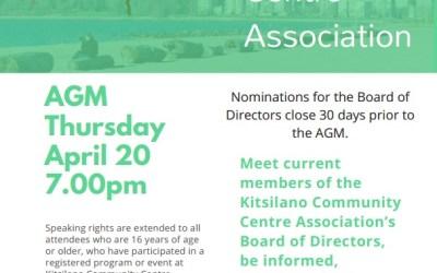 Kitsilano Community Centre AGM