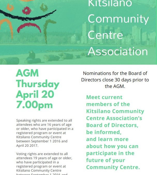 Kitsilano Community Centre AGM