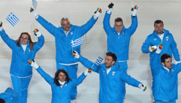 Greek Winter Olympians Show LGBT Support