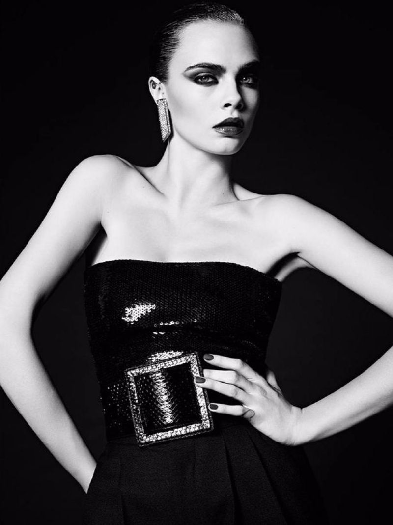 Hedi-Slimane-Put-Cara-Delevingne-in-His-80s-Inspired-Couture-Ads-for-Saint-Laurent-Le-Smoking-2016 (1)