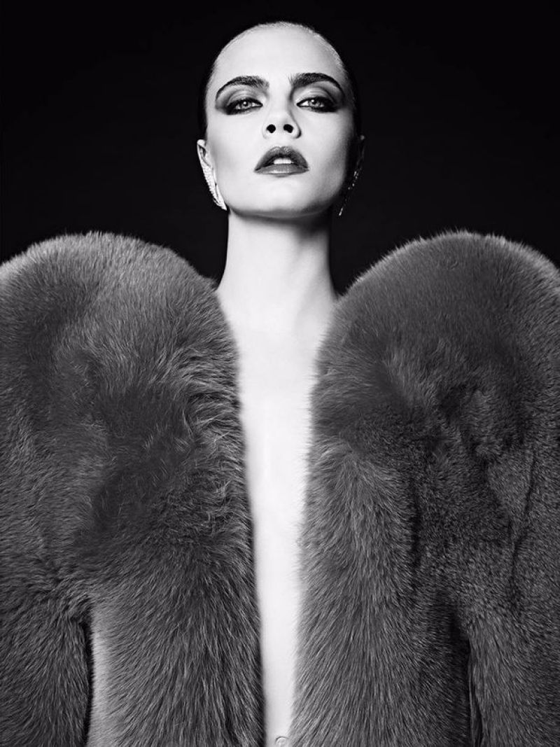 Hedi-Slimane-Put-Cara-Delevingne-in-His-80s-Inspired-Couture-Ads-for-Saint-Laurent-Le-Smoking-2016 (2)