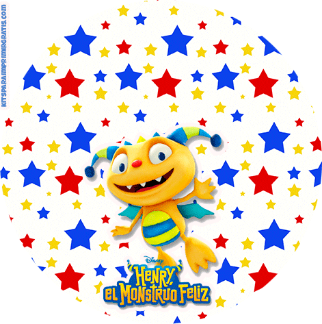 Henry Monstruito stickers etiquetas imprimibles