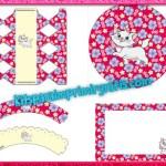 Kit de Gatita Marie para imprimir y decorar