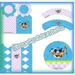 Decoración de Mickey: kit para imprimir gratis