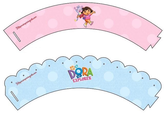 Wrappers de cupcakes de Dora la Exploradora