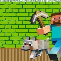 Kit imprimible de Minecraft para cumpleaños