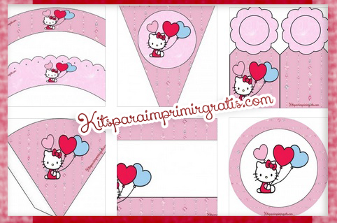 Kits de Hello kitty para imprimir gratis