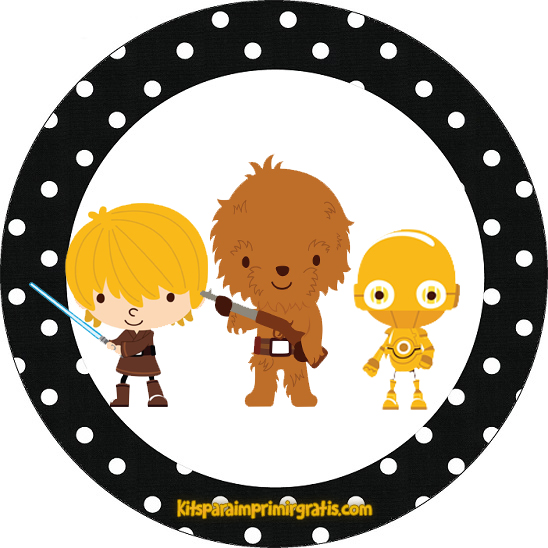Etiquetas Star Wars 7 - Stickers de Star Wars 7 para imprimir gratis - Toppers y decoración Star Wars