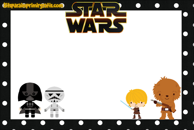 Marcos para fotos Star Wars - Stickers y etiquetas Star Wars 7 - Imagenes Star Wars - Imprimibles decoración Star Wars 7