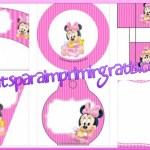 Kit de Minnie Baby para imprimir gratis y decorar