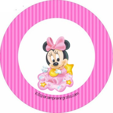 Toppers de Minnie Baby - Stickers Minnie Baby - Etiquetas Minnie Baby