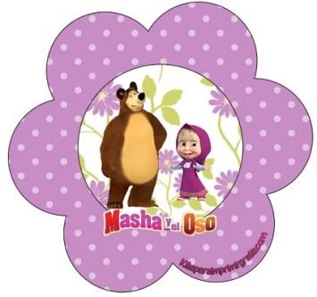 Adornos de Masha y El Oso - Pegatinas Masha y Oso - Stickers Masha y Oso - Toppers Masha y Oso - Imprimibles gratis Masha y Oso
