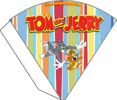 Conos sorpresa Tom y Jerry - Souvenirs Tom y Jerry - Kits imprimibles Tom y Jerry para descargar