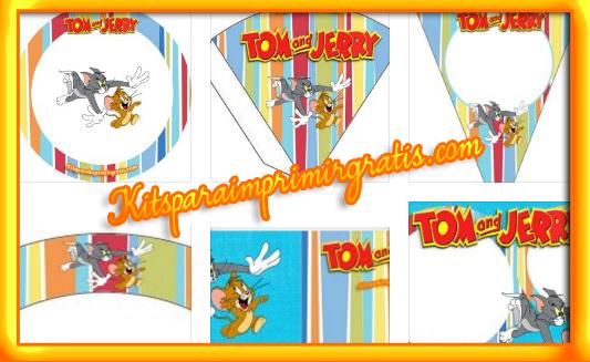 Kits de Tom y Jerry para descargar gratis cumpleaños
