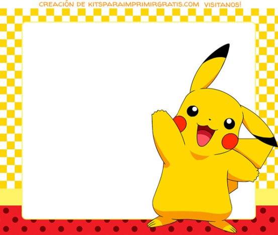 Candy Bar de Pikachu para imprimir gratis