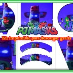 Decoración de Pj Masks Kit para Imprimir Gratis