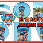 Decoracion de Paw Patrol o Patrulla Canina, Kit para imprimir gratis