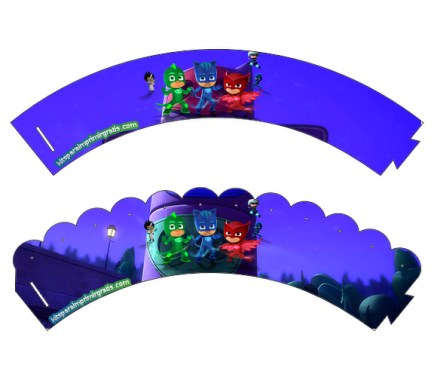 Wrappers Pj Masks - imprimibles Pj Masks - wrappers para descargar pj masks