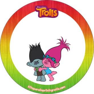 kits imprimibles de Trolls para descargar gratis - etiquetas de trolls - stickers de trolls - decoracion de trolls