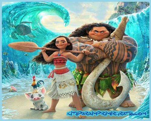 Moana y Maui kits imprimibles