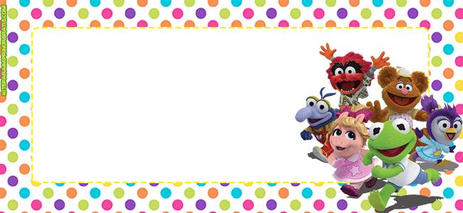 Muppets babies tarjetas marcos invitaciones