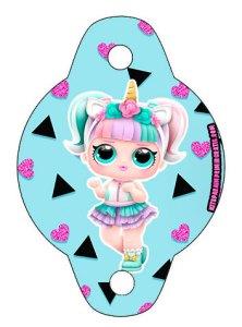 adornos lol surprise sorbetes - kits imprimibles lol 3d Unicornio