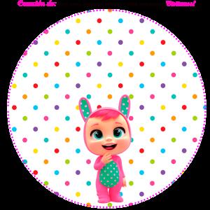 bebes llorones stickers circulares