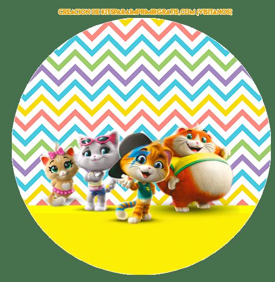 Kits Imprimibles 44 gatos descarga gratis