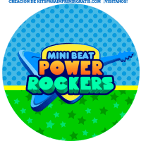 Kit imprimible Mini Beat Power Rockers