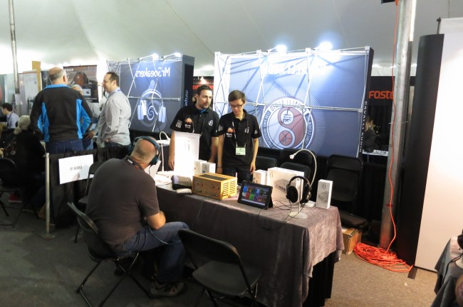 iFi's booth - Sean and Vincent are great guys.