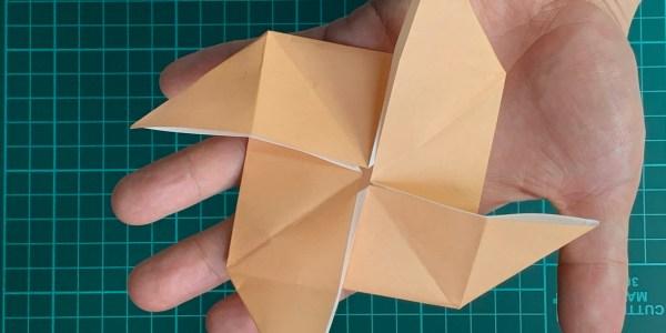 折り紙:かざぐるまの折り方