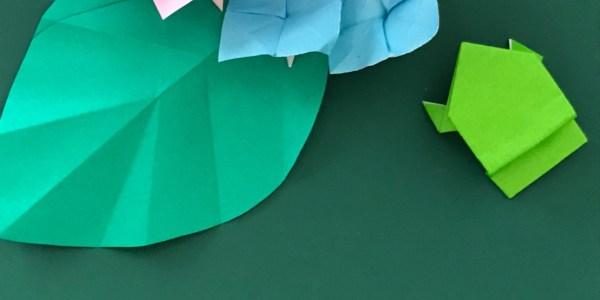 折り紙:あじさいの葉のおりかた