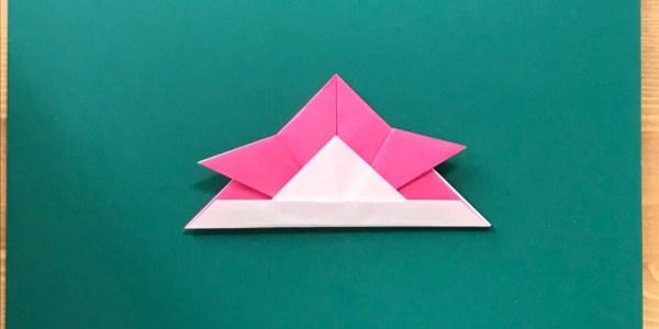 折り紙:かぶとの折り方