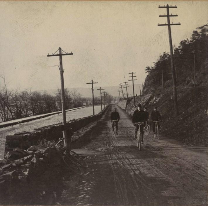 Bicycling along the Dauphin Narrows
