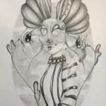 Tegning af Kitt Buch