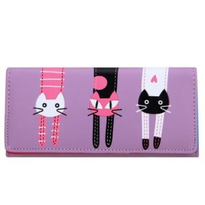 Cat Cartoon Creative Ladies' Wallet