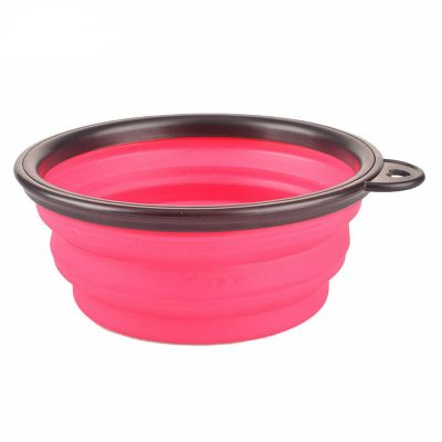 Collapsible Foldable Silicone Food Bowl Outdoor Travel Portable Dish