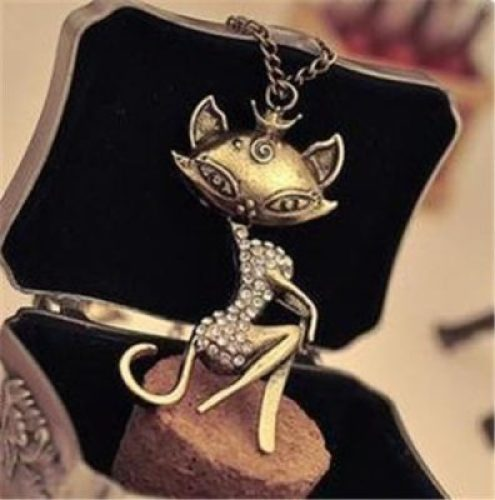 Retro Vintage Sexy Cat Necklace