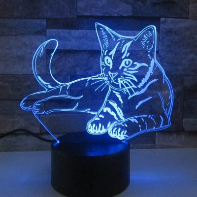 Cat Lamp 3D LED Night Light